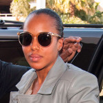 Kerry Washington con gafas Salvatore Ferragamo