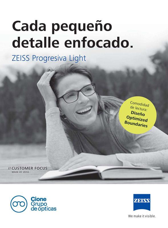 6a546fcd93 Cione distribuidor exclusivo de ZEISS Progresiva Light para España y  Portugal
