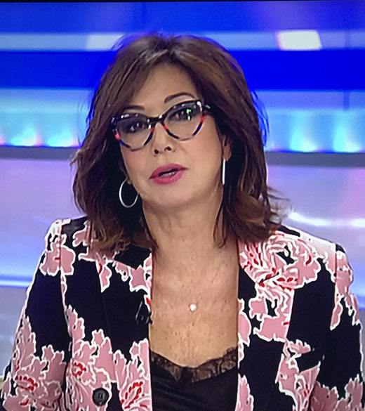 Ana Rosa Quintana Luce Gafas Ultra Limited En Su Programa Revista óptica Lookvision