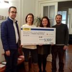 Los trabajadores de Óptica Universitaria donan 12.700 euros a obras sociales