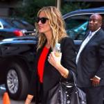 Julia Roberts luce el bolso Le Pliage Cuir de Longchamp