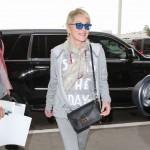 Sharon Stone luce el bolso Mademoiselle Longchamp