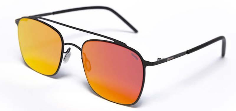 La joven firma de gafas de sol presenta su colección de metal basada en  formas geométricas y dobles puentes. Las lentes espejadas en llamativos  colores ... 93d8cc88784b
