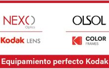 El fabricante de lentes Nexo Optics y el creador de monturas Olsol, unen fuerzas para ofrecer equipamiento completo Kodak